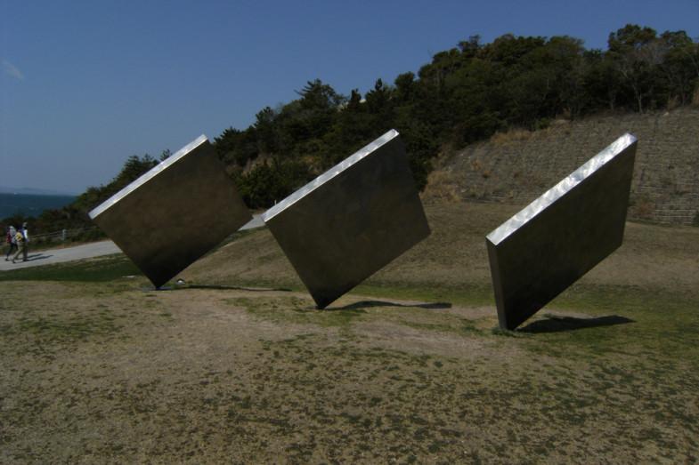 三枚の正方形