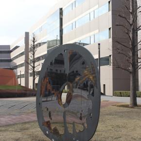"""関根伸夫 / 風景の象嵌 - 円 """"Inlaid Scenery-Circle"""""""