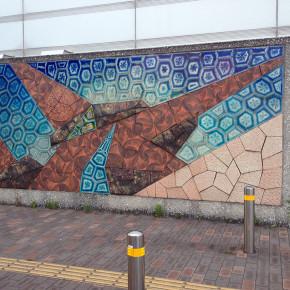 東雲駅前壁画