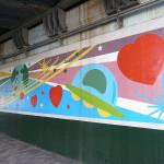 恵比寿駅高架下壁画