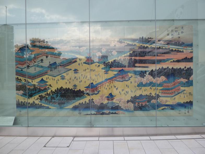 東京名所之内上野山内一覧之図/東都名所上野東叡山全図